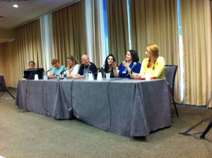 (l to r) Carol Malcolm, Jeanne C. Stein,  Kelley Harkins, Kevin Bachelder, Stephanie Stowers, Stephanie Beaver and Erika Pratte